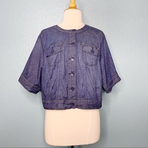 Torrid | Cropped Button Up Chambray Jacket or Top